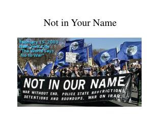 Not in Your Name