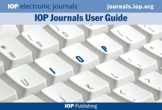 Welcome! A powerpoint guide to IOP's Electronic Journals