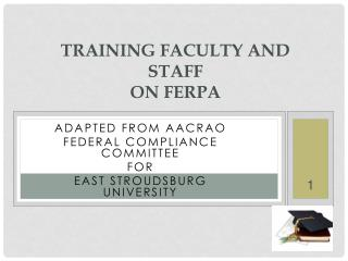 Training Faculty and Staff  on FERPA