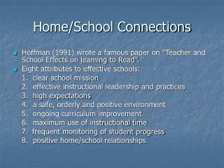 Home/School Connections