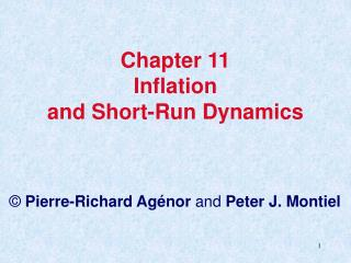 Chapter 11 Inflation and Short-Run Dynamics