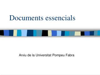 Documents essencials