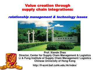 Value creation through supply chain integrations: relationship management & technology issues