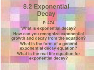 8.2 Exponential Decay