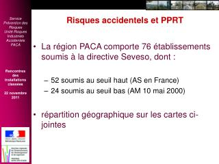 Risques accidentels et PPRT