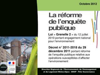 Loi « Grenelle 2 » du 12 juillet 2010 portant engagement national pour l'environnement