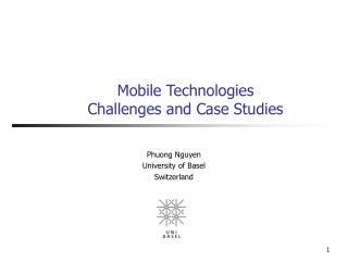 Mobile Technologies Challenges and Case Studies