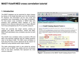 MAST-VizieR/NED cross correlation tutorial