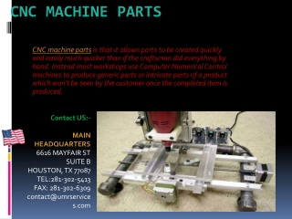 Cnc Machine Parts Repair Services