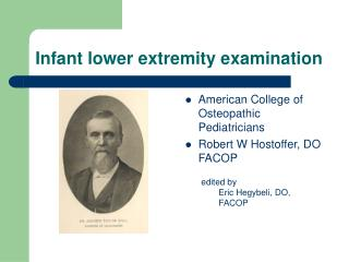 Infant lower extremity examination