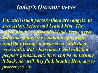 Today's Quranic verse
