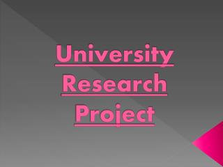 University  Research Project
