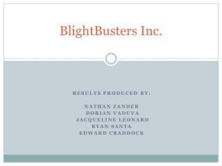 BlightBusters Inc.