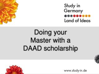 Doing your Master with a DAAD scholarship