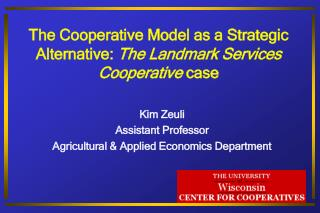 The University of Wisconsin  Center for Cooperatives