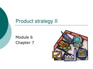 Product strategy II