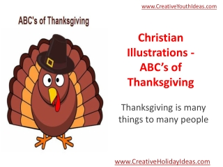 Christian Illustrations - ABC's of Thanksgiving