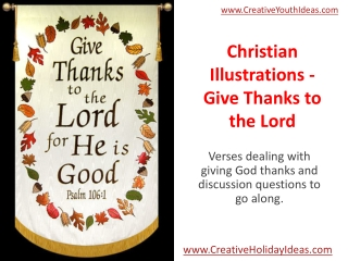 Christian Illustrations - Give Thanks to the Lord