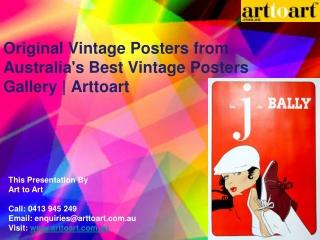 Original Vintage Posters from Australia's Best Vintage Poste