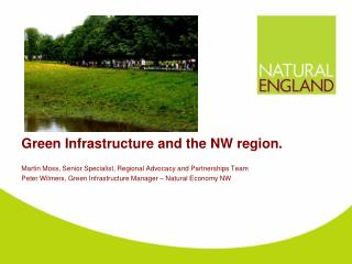 Green Infrastructure and the NW region.