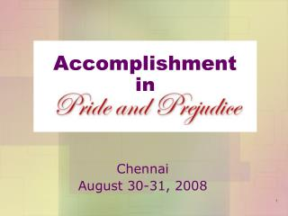 Accomplishment  in