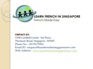 Learn French In Singapore