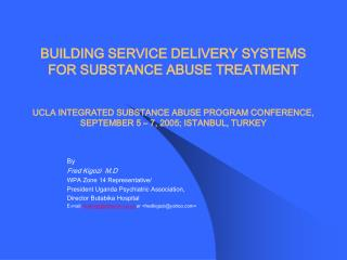 building service delivery systems for substance abuse treatment