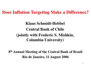 Does Inflation Targeting Make a Difference?