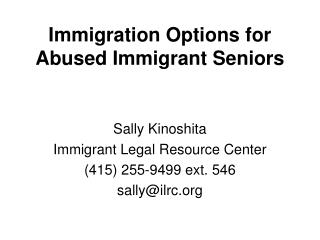 Immigration Options for Abused Immigrant Seniors