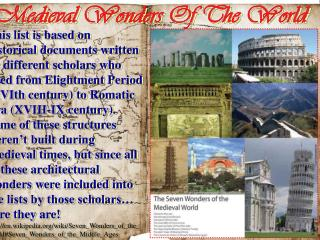 Medieval Wonders Of The World