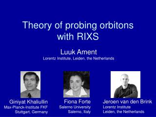 Theory of probing orbitons with RIXS