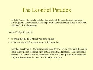 The Leontief Paradox