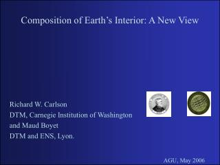 Composition of Earth's Interior: A New View
