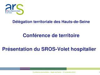 Présentation du SROS-Volet hospitalier