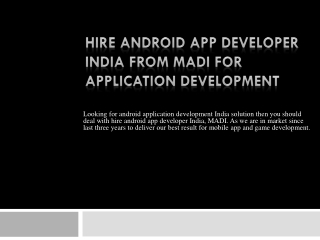 Hire Android Application Developer India From MADI