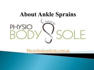 About Ankle Sprains