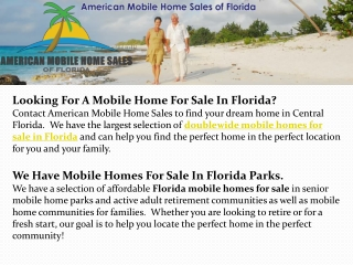Florida Manufactured Homes | Manufactured Homes Parks Florid