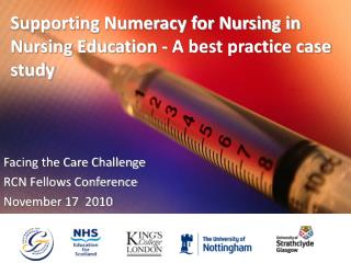 Supporting Numeracy for Nursing in Nursing Education - A best practice case study