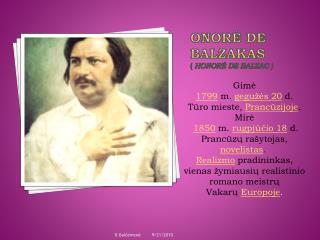 Onorė de Balzakas ( Honoré de Balzac )