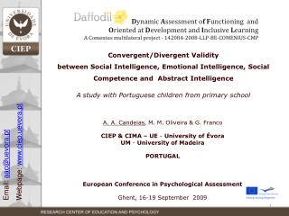 Convergent/Divergent Validity between Social Intelligence, Emotional Intelligence, Social Competence and Abstract Inte