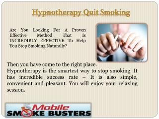 Quit Smoking Hypnotherapy Sydney