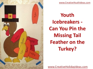 Youth Icebreakers - Can You Pin the Missing Tail Feather on
