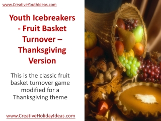 Youth Icebreakers - Fruit Basket Turnover