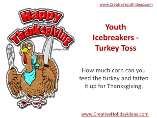 Youth Icebreakers - Turkey Toss