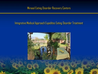 Integratve medical approach expedites eating disorder treatm