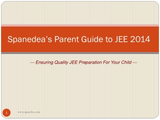 Parents Guide to JEE 2014 - Help your child