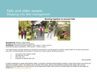 Falls and older people Stepping into falls management