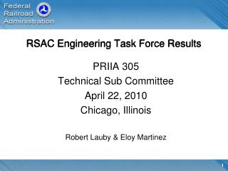 RSAC Engineering Task Force Results