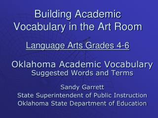 Building Academic Vocabulary in the Art Room Language Arts Grades 4-6