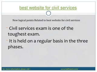 Some points about best website for civil services